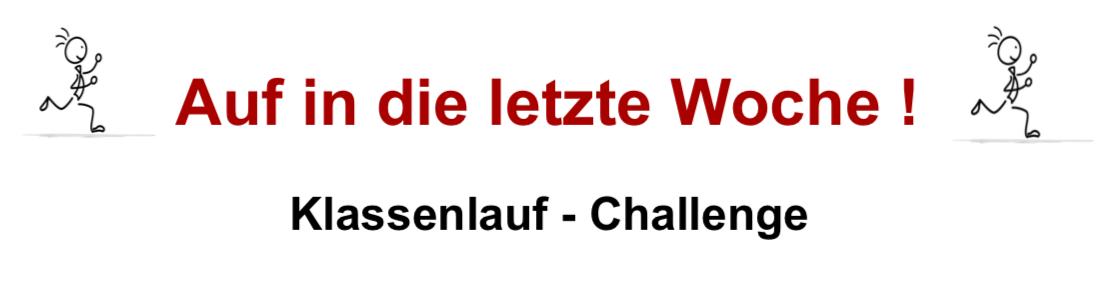 Zwischenstand - Klassenlauf-Challenge